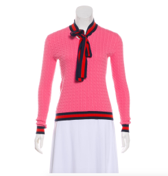 TheRealReal Gucci Web Cable Knit Sweater