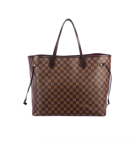 TheRealReal Louis Vuitton 2017 Damier Ebene Neverfull GM w: Pouch