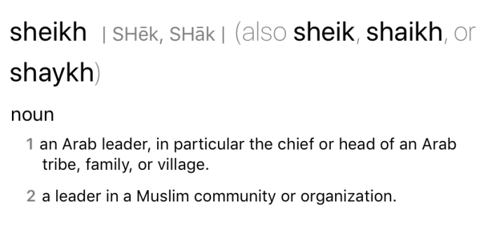 sheikh definition